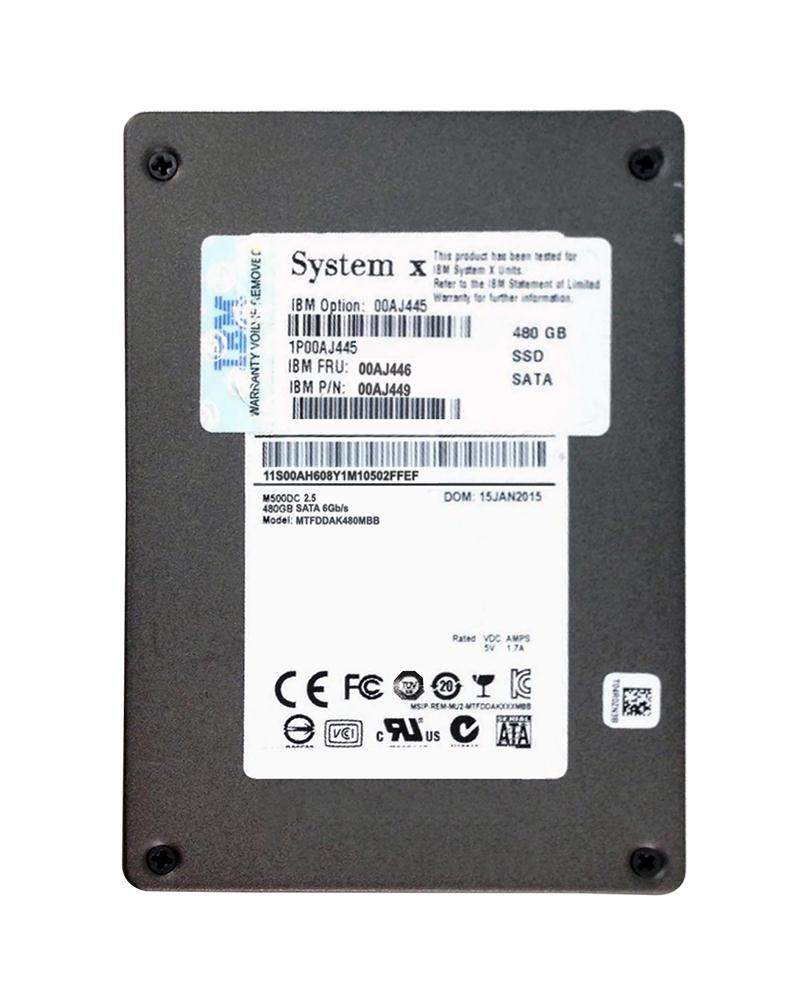 00AJ445 Lenovo 480GB MLC SATA 6Gbps Hot Swap Enterprise Value 3.5-inch Internal Solid State Drive (SSD) for System x3550 M5