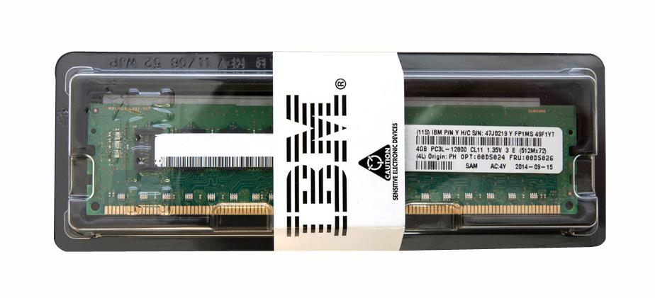 00D5024 IBM 4GB PC3-12800 DDR3-1600MHz ECC Registered CL11 240-Pin DIMM 1.35V Low Voltage Single Rank Memory Module