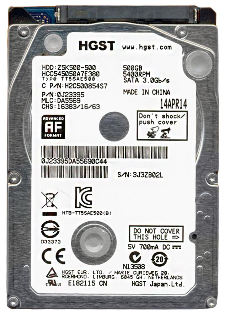 HGST CinemaStar Z5K500 500GB 5400RPM