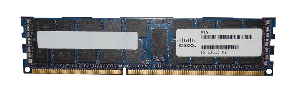 15-13615-02 Cisco 16GB PC3-12800 DDR3-1600MHz ECC Registered CL11 240-Pin DIMM 1.35V Low Voltage Dual Rank Memory Module