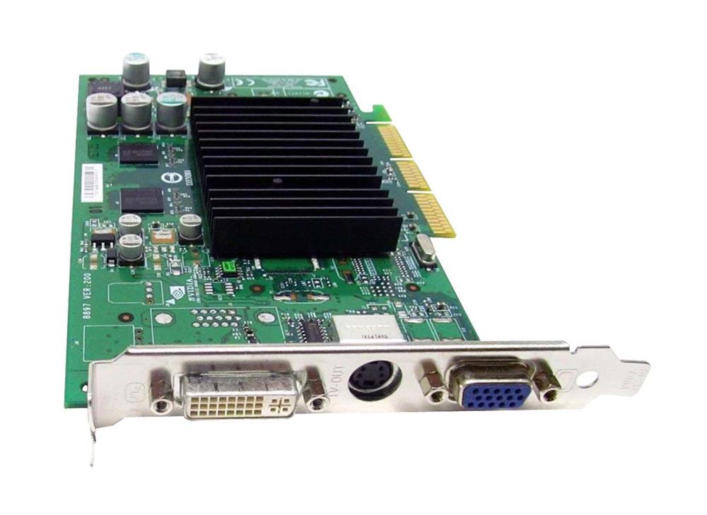 310477-B21 HP Nvidia Quadro4 380XGL AGP 8x 64MB VGA/DVI/TV-Out Video Graphics Card for Workstations