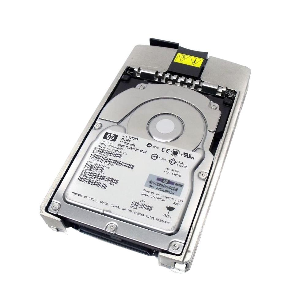 3R-A4144-AA HP 36.4GB 15000RPM Ultra-320 SCSI 80-Pin LVD Hot Swap 3.5-inch Internal Hard Drive with Tray
