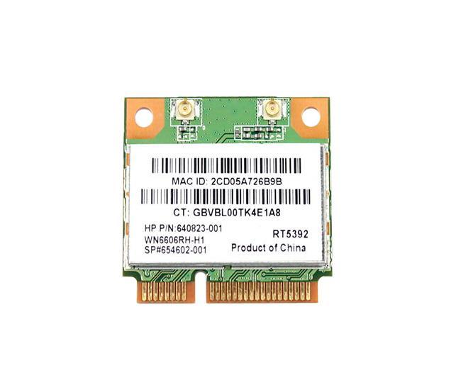 HP LAN Card Kingfisher 802.11b/g/n PCI-Express HMINI WW Mfr P/N 640823-001