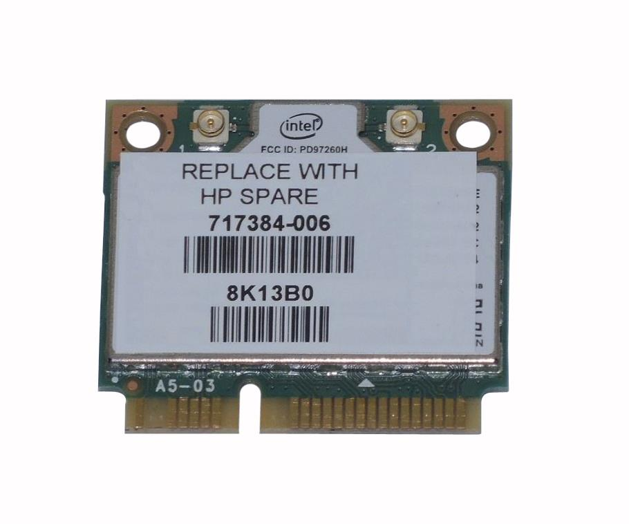 717384-006 HP Dual-Band Intel Wireless-N 7260AN 802.11a/b/g/n 2 x 2 WiFi and BT4.0 Wireless LAN Adapter