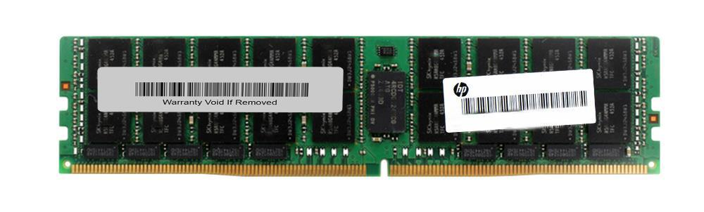 819415-001 HP 128GB PC4-19200 DDR4-2400MHz ECC Registered CL17 288-Pin Load Reduced DIMM 1.2V Octal Rank Memory Module