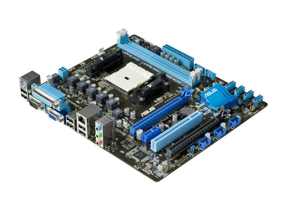 90-MIBHJ0-G0EAY0GZ ASUS Socket FM1 AMD A55 Chipset AMD A-Series/ AMD E2-Series Processors Support DDR3 2x DIMM 6x SATA 3.0Gb/s Micro-ATX Motherboard (Refurbished)