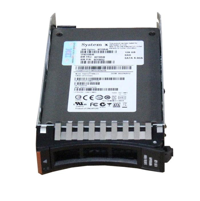90Y8650 IBM 128GB MLC SATA 6Gbps Hot Swap Enterprise Value 2.5-inch Internal Solid State Drive (SSD)