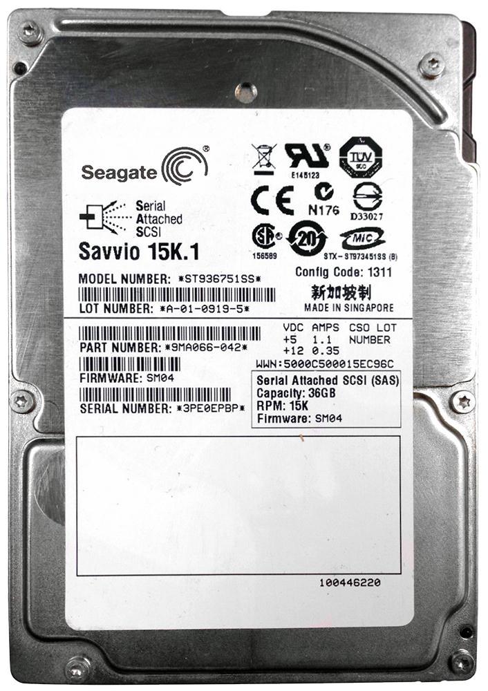Seagate Savvio 15K 36.7GB 15000RPM SAS 3Gbps 16MB Cache 2.5-inch Internal Hard Drive Mfr P/N 9MA066-042