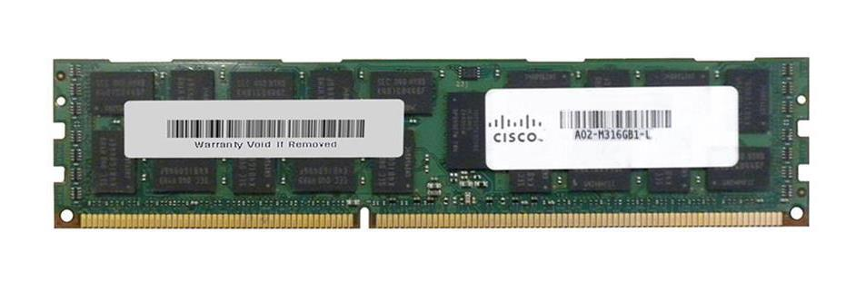 A02-M316GB1-L Cisco 16GB PC3-10600 DDR3-1333MHz ECC Registered CL9 240-Pin DIMM 1.35V Low Voltage Dual Rank Memory Module