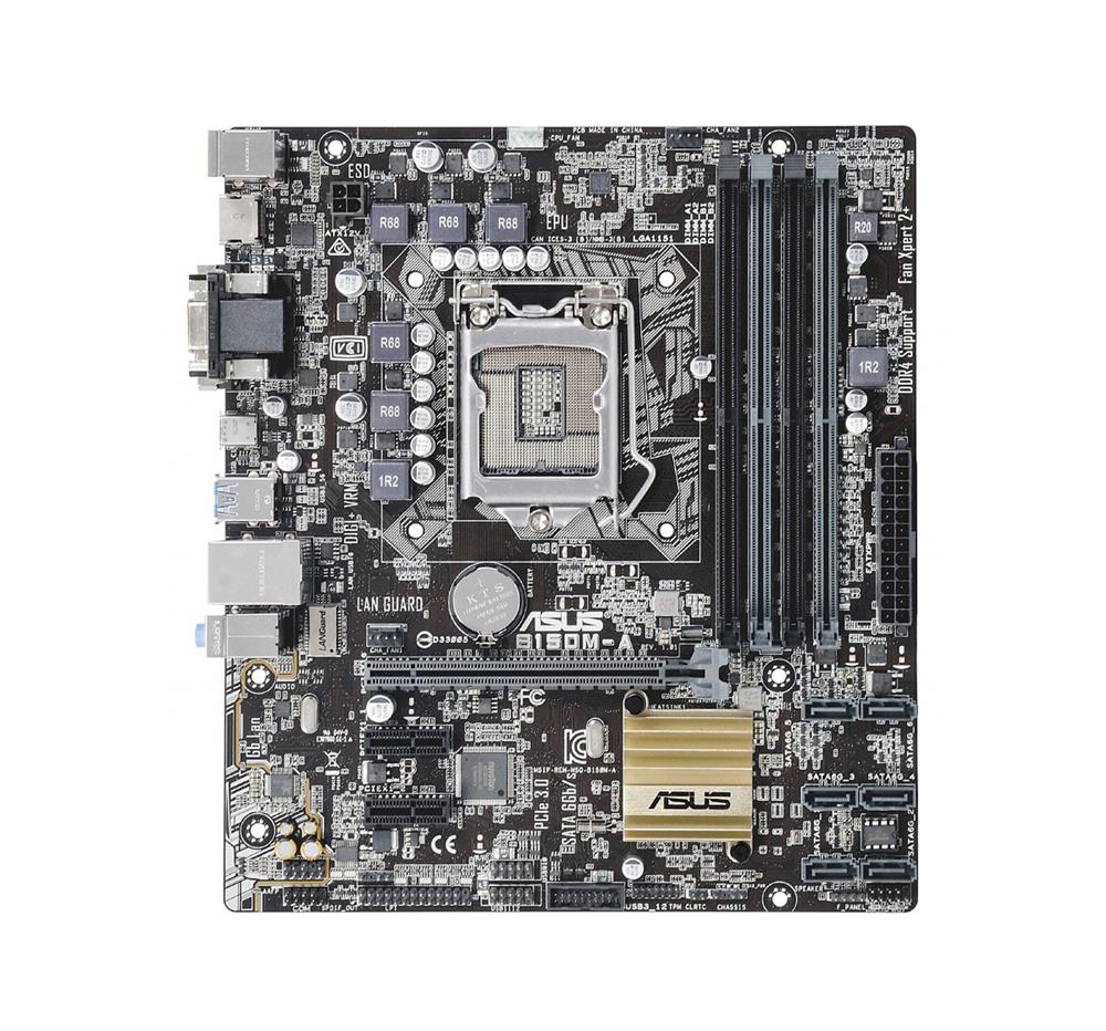 B150M-A-A1 ASUS B150M-A Socket LGA 1151 Intel B150 Chipset 7th/6th Generation Core i7 / i3 / i3 / Pentium / Celeron Processors Support DDR4 4x DIMM 6x SATA 6.0Gb/s Micro-ATX Motherboard (Refurbished)