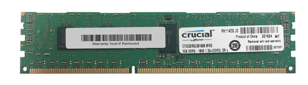 M4L Certified 2GB 1600MHz DDR3 PC3-12800 Reg ECC CL11 240-Pin Single Rank x4 1.35V Low Voltage DIMM Mfr P/N M4L-PC31600RD3S411DL-2G