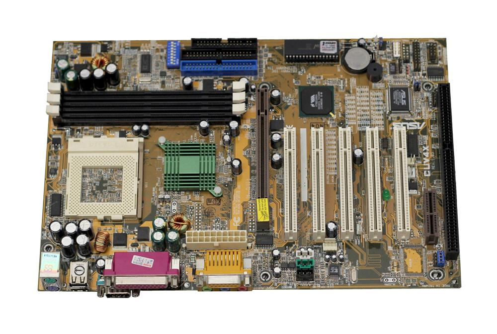 ASUS VIA Apollo Pro133A Chipset Intel Pentium III/ Celeron Processors Support Socket 370 ATX Motherboard (Refurbished) Mfr P/N CUV4X