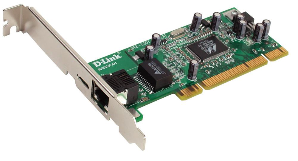 DGE-530T D-Link Single-Port RJ-45 10/100/1000Mbps 32-Bit PCI Bus Gigabit Desktop Ethernet Adapter