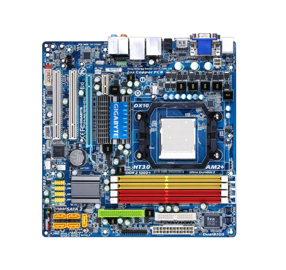 GA-MA78GM-US2H Gigabyte Socket AM3 AMD 780G/SB700 Chipset micro-ATX Motherboard (Refurbished)