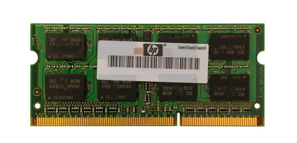 HP 8GB PC3-12800 DDR3-1600MHz non-ECC Unbuffered CL11 204-Pin SoDimm Dual Rank Memory Module Mfr P/N H2P65AA