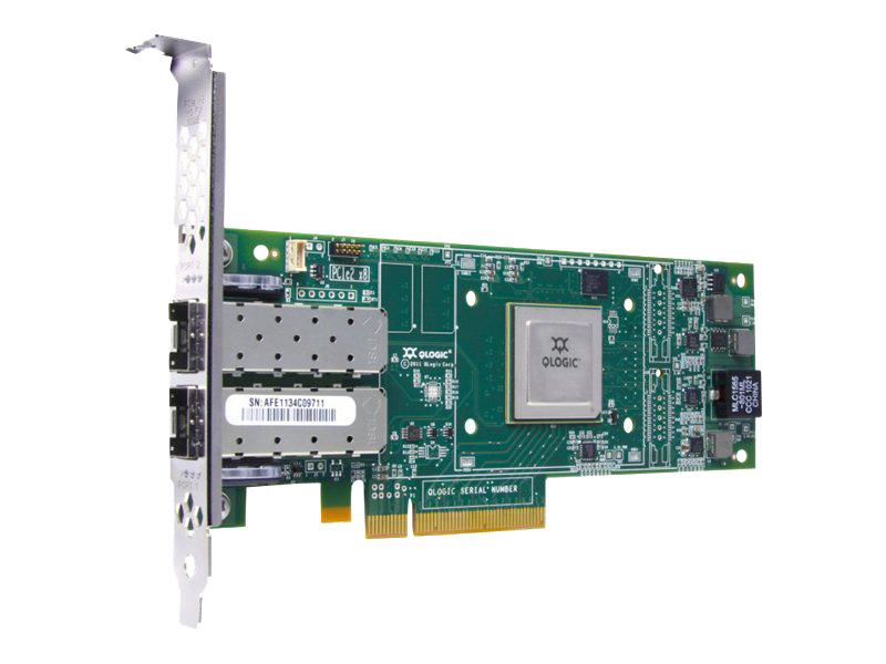 HD8310401-16 QLogic 2-Port Fcoe 10GBs W 16GB Sfps PCI Express 3.0 Network Adapter