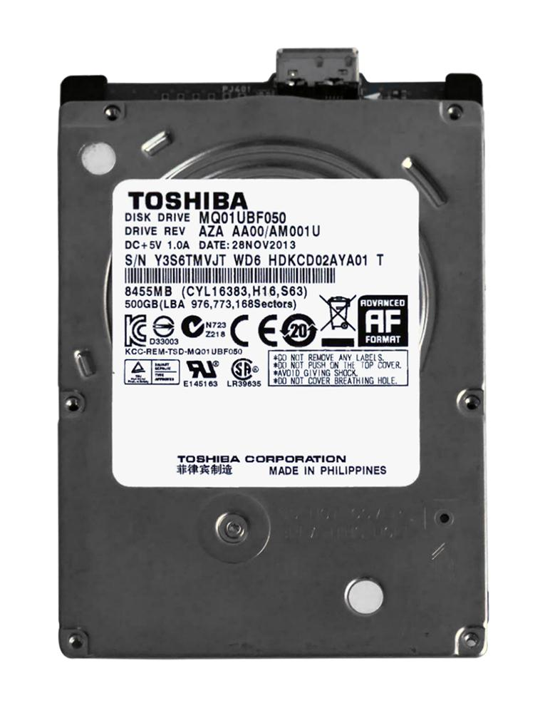 HDKCD02AYA01T Toshiba 500GB 5400RPM USB 3.0 8MB Cache 2.5-inch Internal Hard Drive