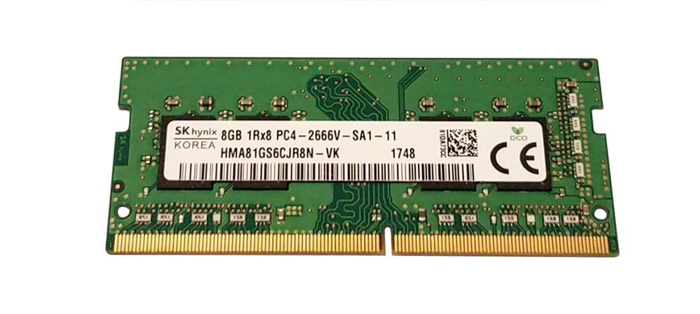 SK HYNIX 8GB 1Rx 8 PC4-2666V RAM MEMORY HMA81GS6CJR8N-VK
