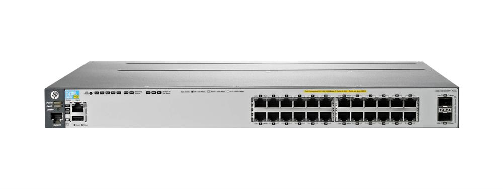 HP 3800-24G-2SFP+ 24-Ports layer-4 Managed Stackable Gigabit Ethernet Switch (Refurbished) Mfr P/N J9575A