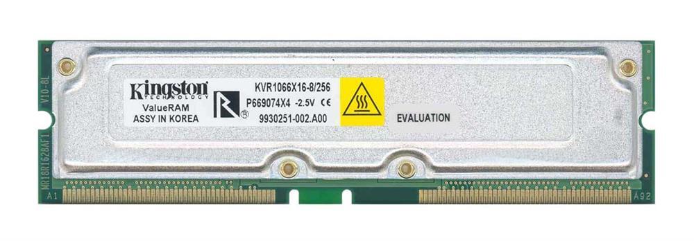 Kingston 256MB PC1066 1066MHz non-ECC 32ns 184-Pin RDRAM RIMM Memory Module Mfr P/N KVR1066X16-8/256