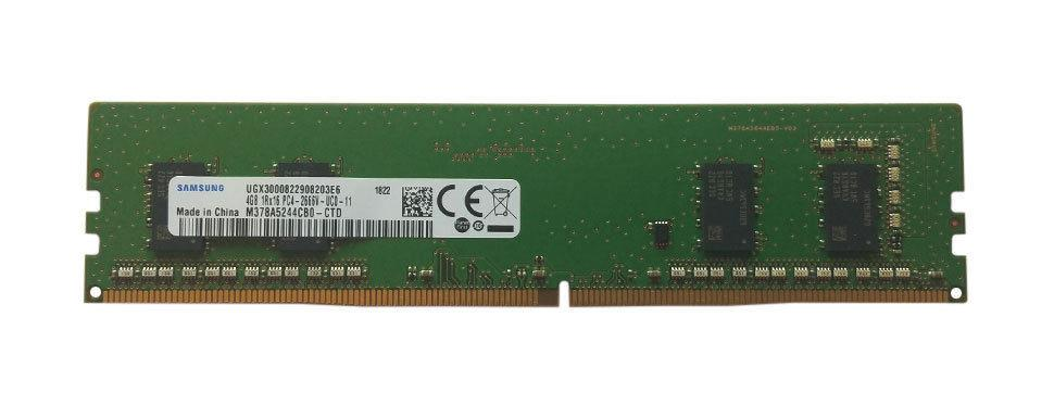 M378A5244CB0-CTD Samsung 4GB PC4-21300 DDR4-2666MHz non-ECC Unbuffered CL19 288-Pin DIMM 1.2V Single Rank Memory Module