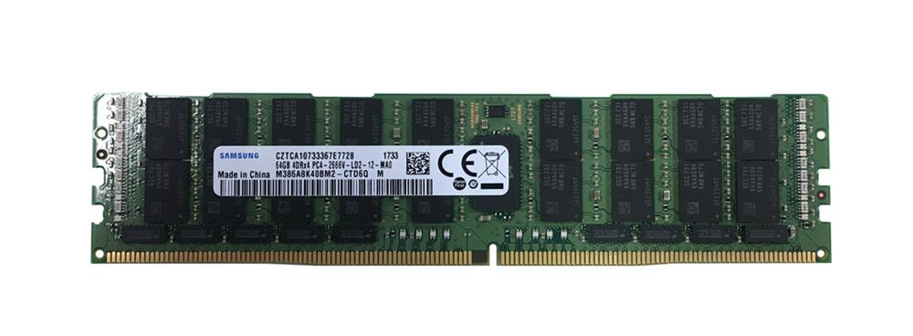 M386A8K40BM2-CTD6Q Samsung 64GB PC4-21300 DDR4-2666MHz ECC Registered CL19 288-Pin Load Reduced DIMM 1.2V Quad Rank Memory Module