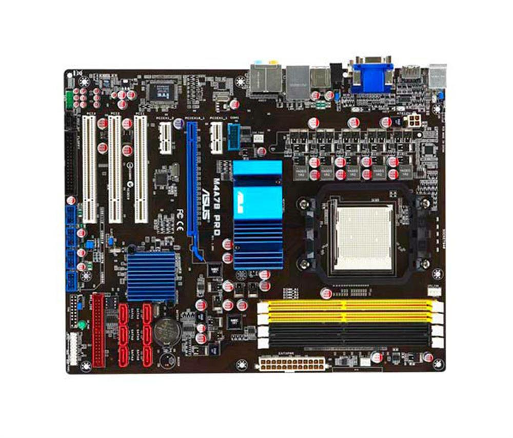M4A78PRO ASUS Socket AM2+/AM2 AMD 780G + SB700 Chipset AMD Phenom II/ AMD Phenom/ AMD Athlon II/ Athlon/ AMD Sempron Processors Support DDR2 4x DIMM 6x SATA 3.0Gb/s ATX Motherboard (Refurbished)