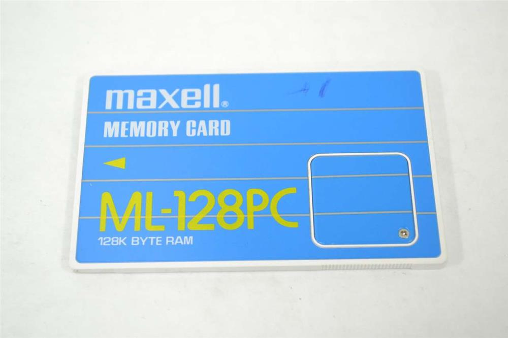 Maxell 128KB Byte RAM PCMCIA Flash Memory Card Mfr P/N ML-128PC