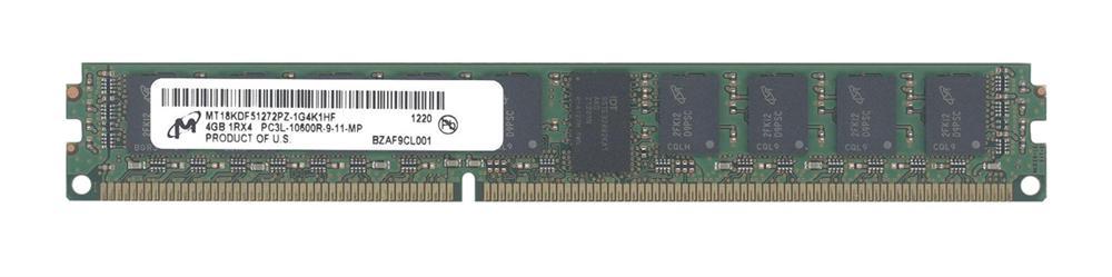 M4L Certified 4GB 1333MHz DDR3 PC3-10600 Reg ECC CL9 240-Pin Single Rank x4 VLP 1.35V Low Voltage DIMM Mfr P/N M4L-PC31333RD3S49DVL-4G
