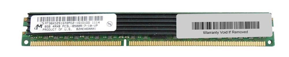 M4L Certified 8GB 1066MHz DDR3 PC3-8500 Reg ECC CL7 240-Pin Dual Rank x4 VLP 1.35V Low Voltage DIMM Mfr P/N M4L-PC31066RD3D47DVL-8G