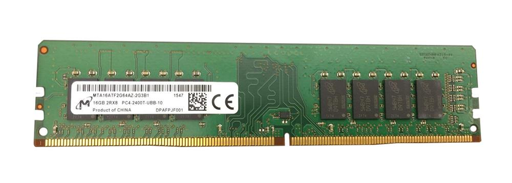 MTA16ATF2G64AZ-2G3 Micron 16GB PC4-19200 DDR4-2400MHz non-ECC Unbuffered CL17 288-Pin DIMM 1.2V Dual Rank Memory Module