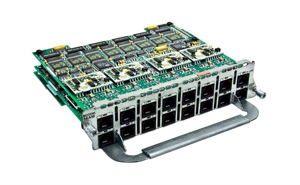 Cisco 16-Port Network Module (Refurbished) Mfr P/N NM-16AM