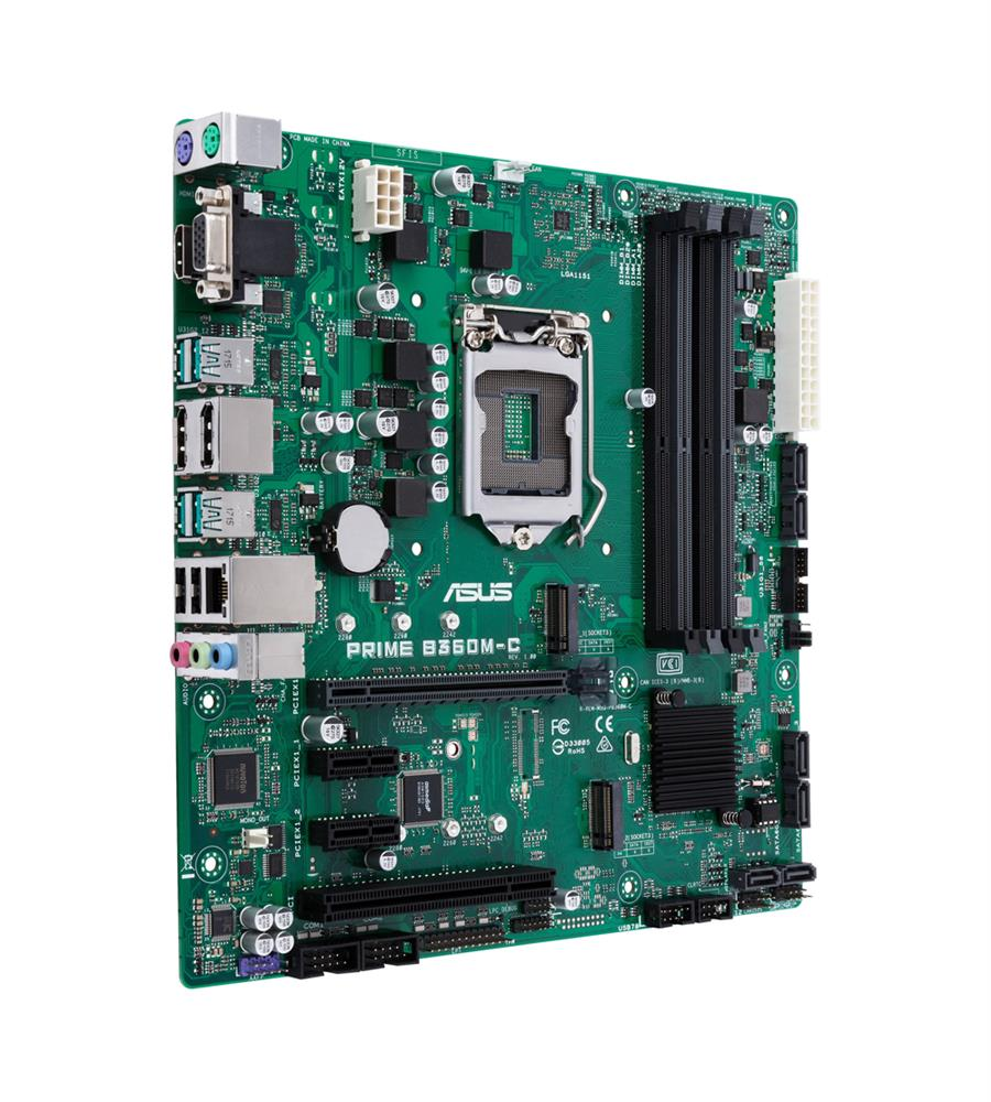 PRIME B360M-C/CSM ASUS Socket LGA 1151 Intel B360 Chipset 8th Generation Core i7 / i5 / i3 / Pentium G/ Celeron G Processors Support DDR4 4x DIMM 6x SATA 6.0Gb/s Micro-ATX Motherboard (Refurbished)