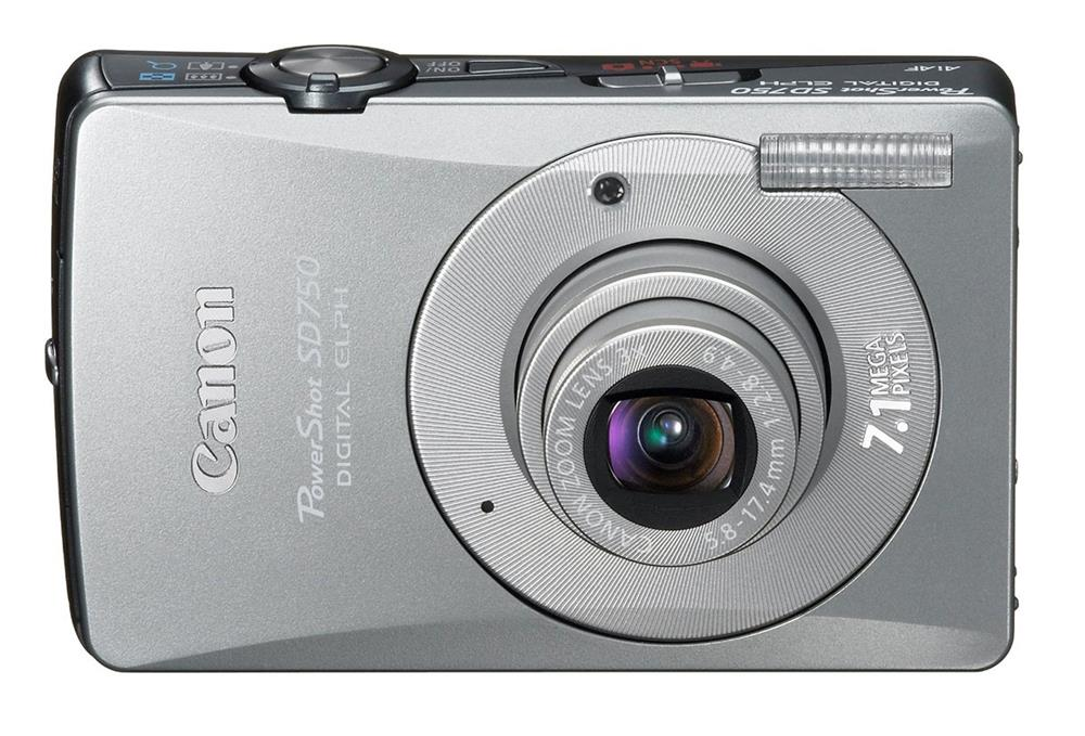 Canon PowerShot SD750 7.1MP 1/2.5-inch CCD 3x Optical Zoom SD/SDHC/MMC ...