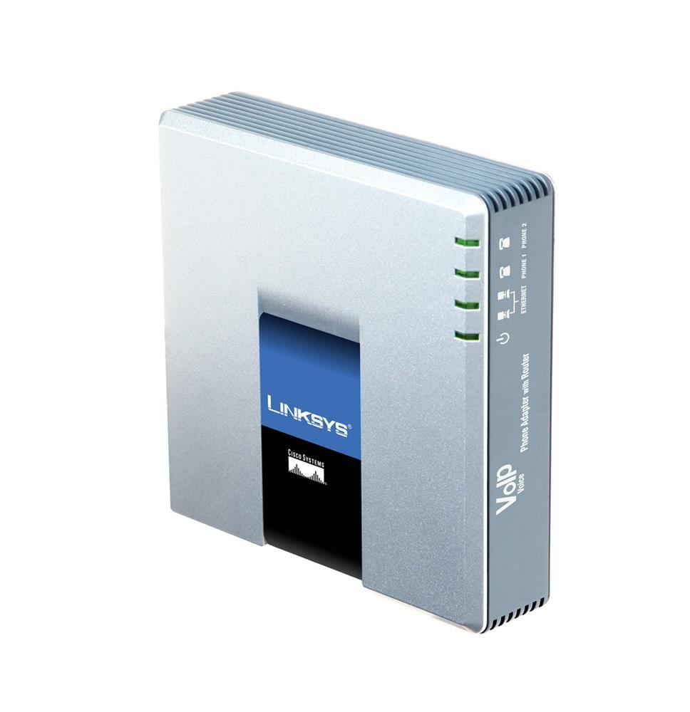 SPA2102-AU Cisco Linksys SPA-2102 Phone Adapter with Router 2 x RJ-45 2 x FXS Fast Ethernet (Refurbished)