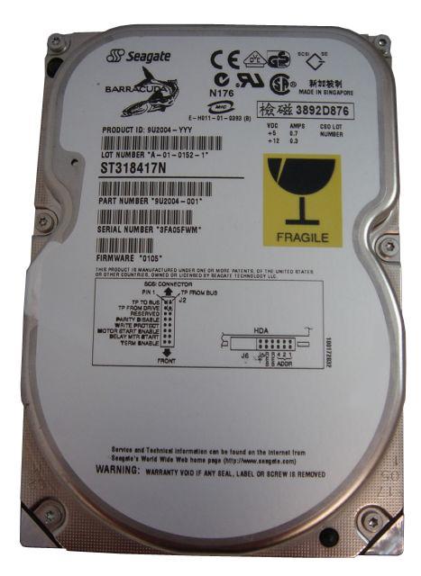 Seagate Barracuda 18XL ST318416W 18 GB 68 PIN