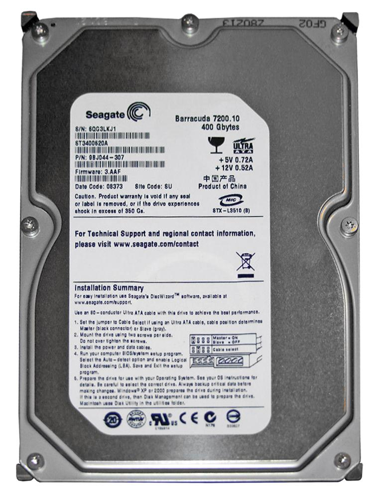 ST3400620A Seagate Barracuda 7200.10 400GB 7200RPM ATA-100 16MB Cache 3.5-inch Internal Hard Drive
