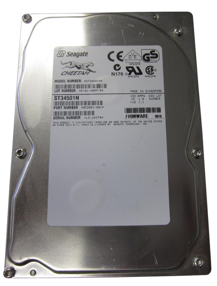 ST34501N Seagate Cheetah 4LP 4.5GB 10000RPM Ultra SCSI 512KB Cache 3.5-inch Internal Hard Drive