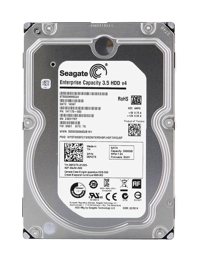 Seagate Enterprise 5TB 7200RPM SATA 6Gbps 128MB Cache 3.5-inch Internal Hard Drive Mfr P/N ST5000NM0024
