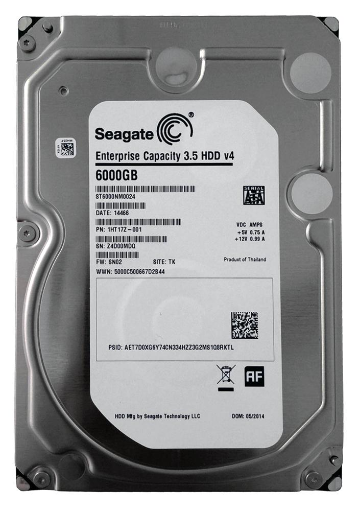 ST6000NM0024 Seagate Enterprise 6TB 7200RPM SATA 6Gbps 128MB Cache (512e) 3.5-inch Internal Hard Drive