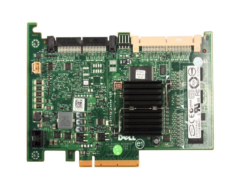 Dell PERC 6/I 256MB Cache SAS 3Gbps Dual Channel PCI Express 1.0 Integrated RAID  Controller Card Mfr P/N T954J