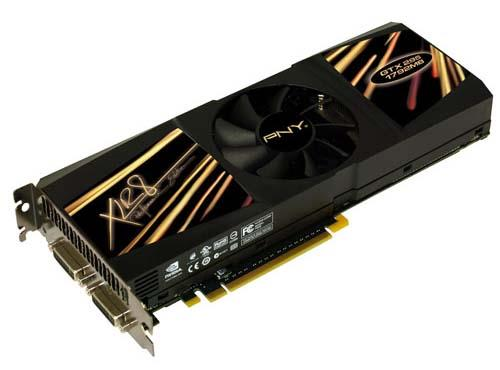 VCGGTX295XPB PNY nVidia GTX 295 1792MB 896-Bit DDR3 PCI Express 2.0 Dual link DVI-I Video Graphics Card
