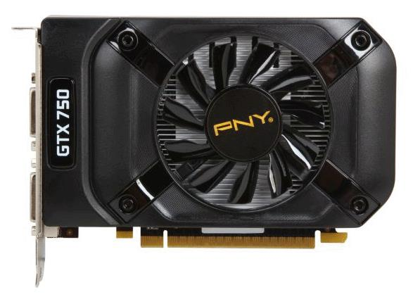 VCGGTX7501XPB_BIN3 PNY GeForce GTX 750 1GB GDDR5 128-Bit PCI Express 3.0 x16 Dual DVI/ mini HDMI Video Graphics Card