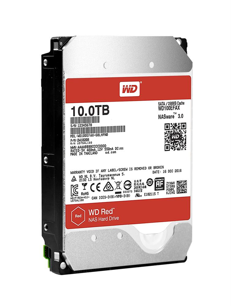 WD100EFAX Western Digital Red NAS 10TB 5400RPM SATA 6Gbps 256MB Cache 3.5-inch Internal Hard Drive
