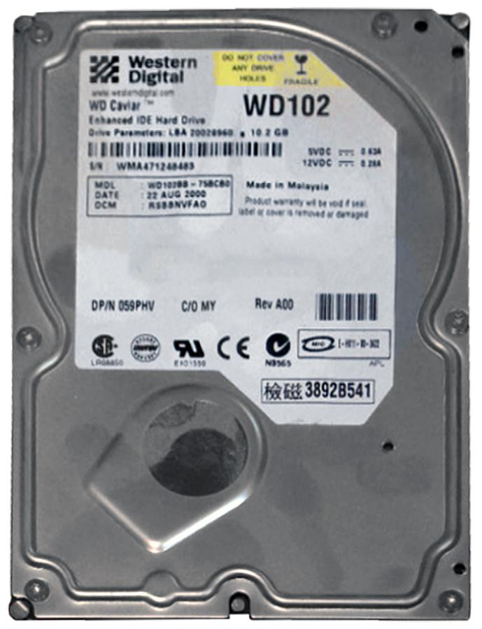 WD102BB Western Digital Caviar 10.2GB 7200RPM ATA-100 2MB Cache 3.5-inch Internal Hard Drive