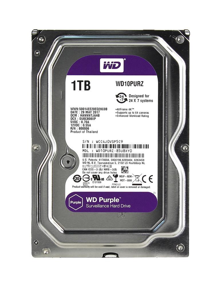 WD10PURZ-85U8XY0 Western Digital Purple 1TB SATA 6 0 Gbps Hard Drive