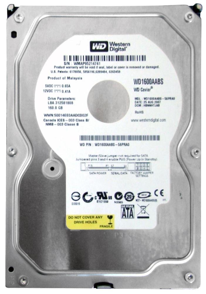 WD1600AABS Western Digital Caviar 160GB SATA 3 0 Gbps Hard Drive