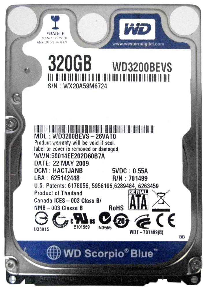 WD3200BEVS DRIVERS FOR MAC