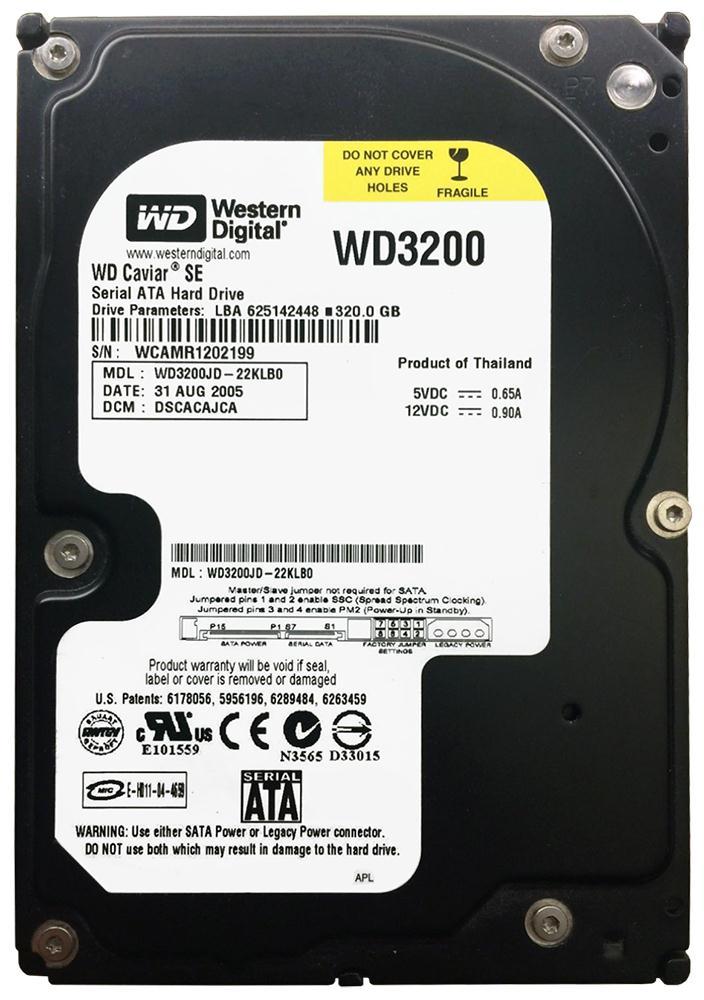 WD3200JD-22KLB0 Western Digital Caviar 320GB SATA 1 5 Gbps Hard Drive