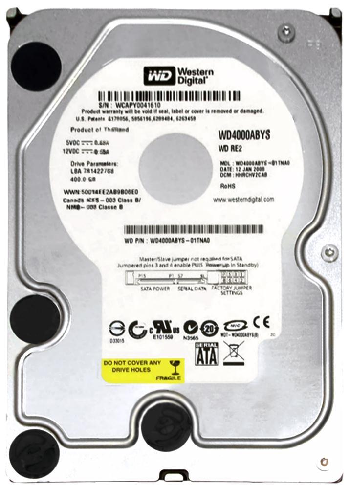 """Western Digital WD4001ABYS 400GB 7200RPM 3.5/"""" SATA Hard Drive"""